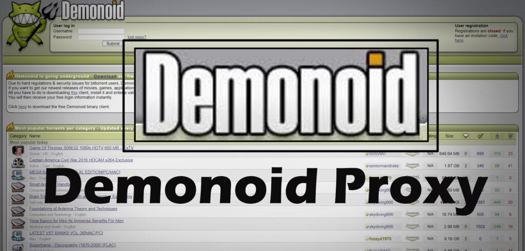 Demonoid Proxy Unblock Demoind.pw Proxy list & Alternative Sites