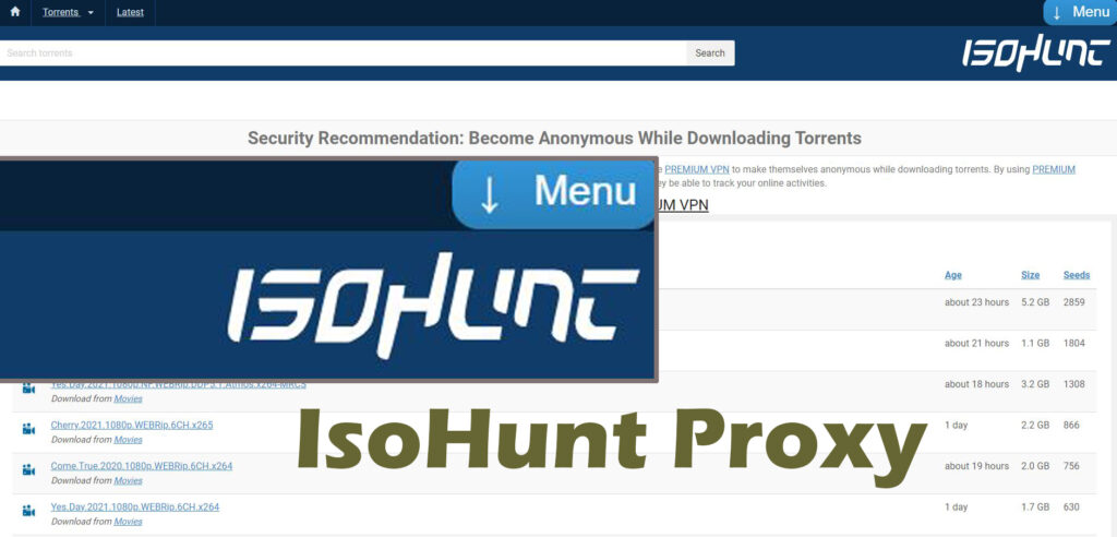 IsoHunt Proxy | Unblock IsoHunt Proxy/Mirrors Alternative Sites