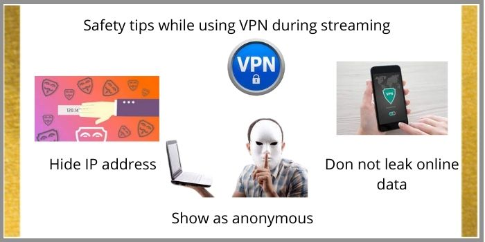 How can I be safe when streaming